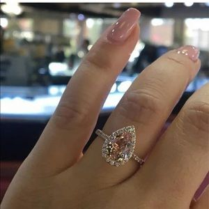 NEW pear shape bridal engagement wedding ring